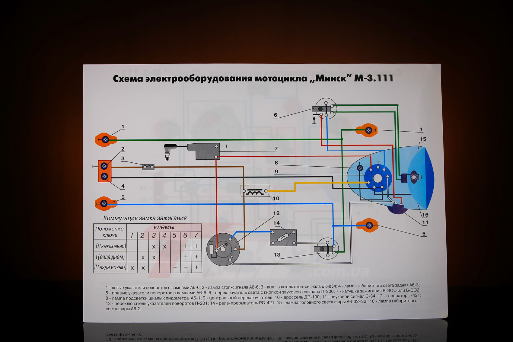 Схема сигнала на мотоцикл